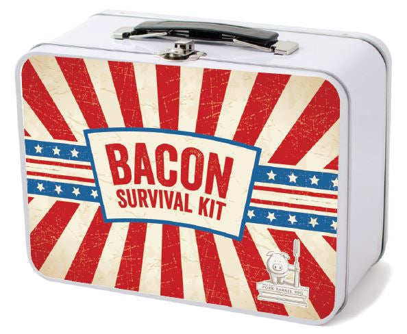 Bacon Jerky Survival Kit Retro Lunch Box Sampler