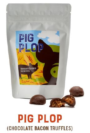 """Pig Plop"" Bacon Chocolate Truffles"
