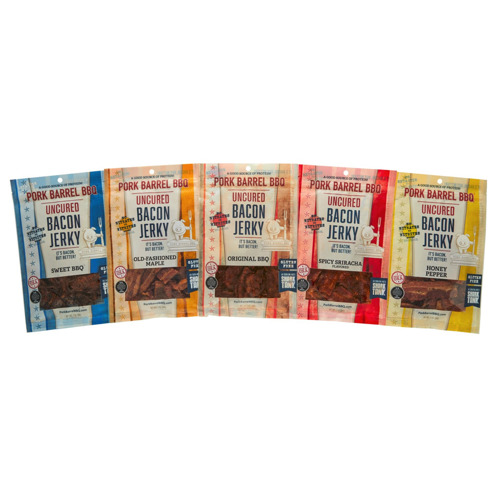 Bacon Jerky Piglet Sampler Pack