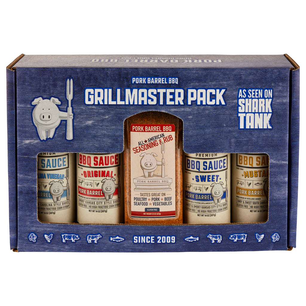 Grillmaster BBQ Sauce & Spice Seasoning Gift Pack