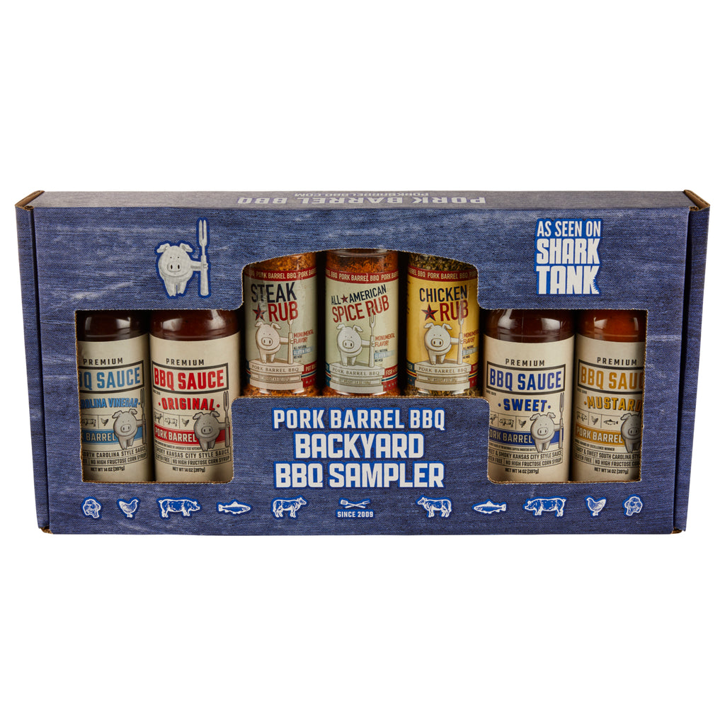 Backyard BBQ Sauce Spice Seasoning Rub Gift Pack
