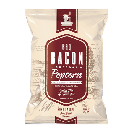 BBQ Bacon Real Cheddar Popcorn - 12 Pack Case-Pork Barrel BBQ