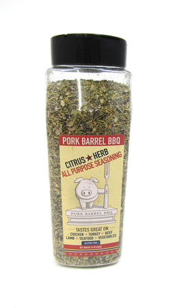 Citrus Herb All Purpose Seasoning - Perfect on Chicken - 16 oz Chef Shaker-Pork Barrel BBQ