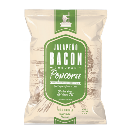 Jalapeno Bacon Real Cheddar Popcorn - 12 Pack Case-Pork Barrel BBQ