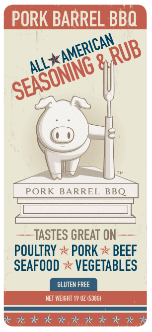 Pork Barrel BBQ All-American Spice Rub – 22 ounce Chef Shaker-Pork Barrel BBQ