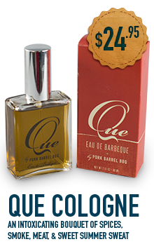 QUE - BBQ Scented Cologne-Pork Barrel BBQ