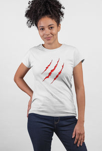 Claw Style - Short Sleeve White Color T-Shirt For Girls - stylewati.com
