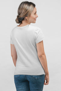 FIXED Print Short Sleeve White Color T-Shirt - stylewati.com