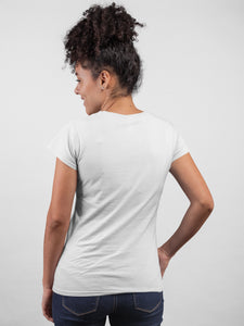 Heart Beat White Cotton T-Shirt For Girls By Stylewati - 201950_001 - Back View