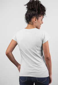 Live Your Life Style - Short Sleeve White Color T-Shirt For Girls by Stylewati - 201916_001 - Front Side View