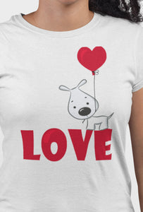 Love White Cotton T-Shirt For Girls by Stylewati - Zoom View - 201963_001