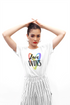 Love Wins - White Color Short Sleeve T-shirt For Girls
