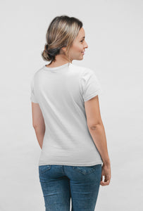 Multi Face - Short Sleeve White Color T-Shirt For Girls by Stylewati - 201940_001 - Back Side View