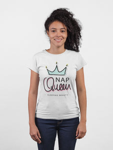 Nap Queen White Cotton T-Shirt By Stylewati - Main View -201951_001