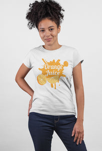 Orange Juice Short Sleeve T-Shirt - stylewati.com