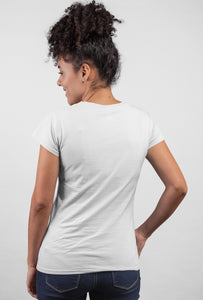 Peek Out Short Sleeve White Color T-Shirt for Girls by Stylewat 201919_001 back side view