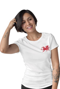 Red Dragon - Short Sleeve White Colour T-Shirt For Girls by Stylewati 201942_001