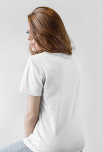 Coffee Refresh Me ! White Cotton T-Shirt For Girls by stylewati