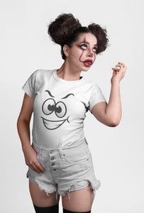 Look At My Witty Smile ! White Short Sleeve T-Shirt for Girls - stylewati.com