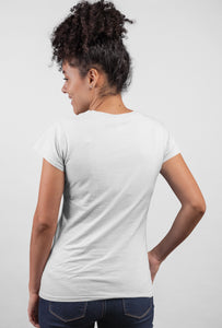 Trust On One Short Sleeve White Color T-shirt For Girls - stylewati.com