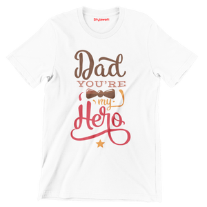 Father's Day Special - Short Sleeve White Colour T-Shirt - stylewati.com