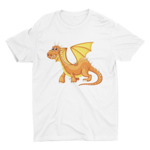 Little Dinosaurs - Short Sleeve White T-Shirt For Kids - stylewati.com