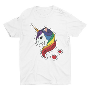 Cute Unicorn - Short Sleeve White T-Shirt For Kids - stylewati.com