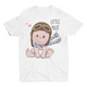 little pilot- Short Sleeve White T-Shirt For Kids - stylewati.com
