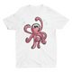 Red Octiee- Short Sleeve White T-Shirt For Kids - stylewati.com
