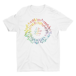 Life Hake Life - Short Sleeve White T-Shirt For Kids - stylewati.com