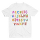 Smile on ABC- Short Sleeve White T-Shirt For Kids - stylewati.com