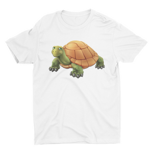 Smarty Toby Tortoise - Short Sleeve White T-Shirt For Kids - stylewati.com