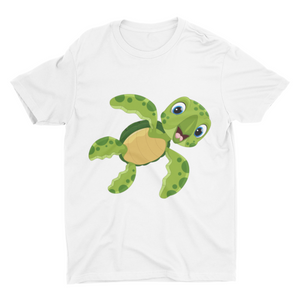 Baby Tortoise - White Color Short Sleeve T-Shirt For Boys - stylewati.com