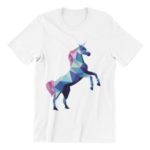 Unicorn - Short Sleeve White T-Shirt For Kids - stylewati.com