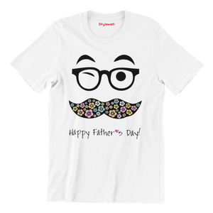 Happy Father's Day - Short Sleeve White Colour T-Shirt - stylewati.com