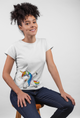 Unicorn Style! White Cotton T-Shirt For Girls - stylewati.com
