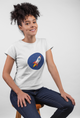 Rocking Rocket White Cotton T-Shirt For Girls - stylewati.com