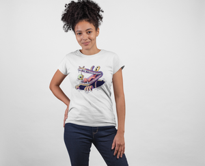Life In Danger ! White Cotton T-Shirt For Girls - stylewati.com