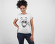 Look At My Smile ! White Cotton T-Shirt For Girls by stylewati