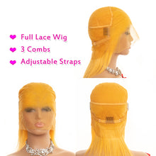 Load image into Gallery viewer, short full lace yellow remy human hair wig - Ziling-Hair