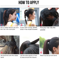 Load image into Gallery viewer, Straight drawstring human hair ponytail - Ziling-Hair