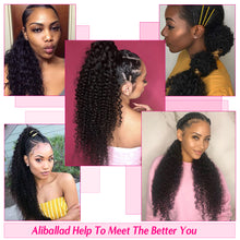 Load image into Gallery viewer, afro kinky curly drawstring human hair ponytail - Ziling-Hair