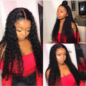 5*5 lace closure curly remy human hair wig - Ziling-Hair