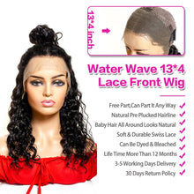 Load image into Gallery viewer, 13*4 lace front water wave remy human hair wig - Ziling-Hair