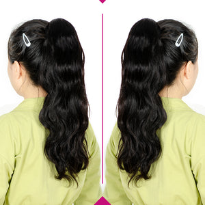 body wave drawstring human hair ponytail - Ziling-Hair