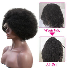Load image into Gallery viewer, 13*4 lace front afro puff kinky curly human hair wig - Ziling-Hair