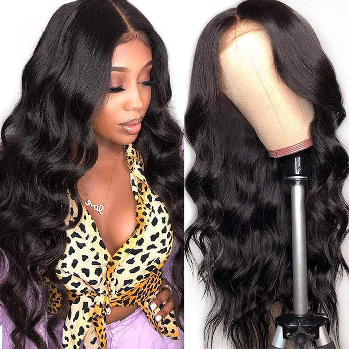 5*5 lace closure body wave remy human hair wig - Ziling-Hair