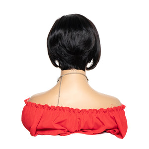13*4 lace front pixie cut remy human hair bob wigs - Ziling-Hair