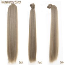"Load image into Gallery viewer, best premium  26"" long kanekalon synthetic sleek ponytails - Ziling-Hair"