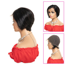 Load image into Gallery viewer, 13*4 lace front pixie cut remy human hair bob wigs - Ziling-Hair